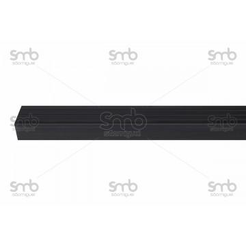 Testeira Preta 50mm x 30mm cantoneira escada 10mts