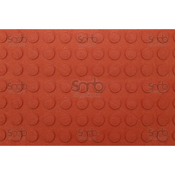 Piso Relevo vermelho 3mm esp x 80cm larg - (MT)