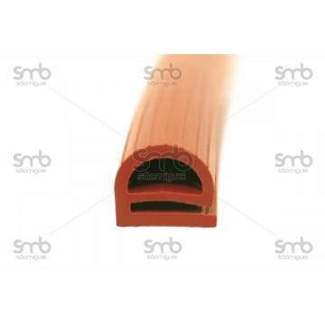 Perfil Silicone borracha Padaria p/mt