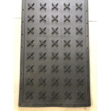 Piso Borracha Preto modelo-X  medidas 1mt larg x 2,50mts comp x 20mm esp