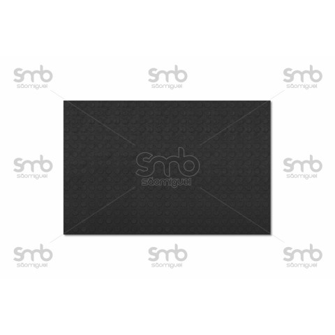 Piso Relevo Preto 3mm esp x 80cm larg - (MT)