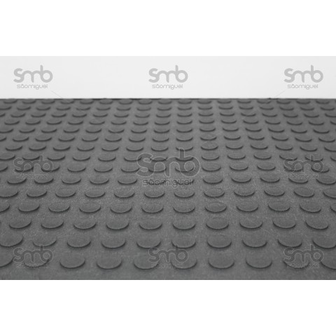 Piso Relevo Cinza 3mm esp x 80cm larg - (MT)