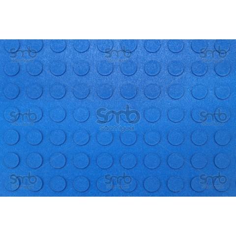 Piso Relevo Azul 3mm esp x 80cm larg - (MT)