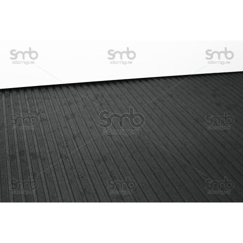 Piso Ripado Preto 3mm esp x 80cm larg - (MT)