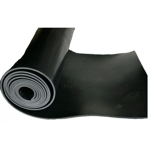 Lençol Borracha 4mm x 1mt x 10mts SBR sem lona preto