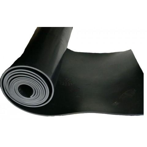 Lençol Borracha 3mm x 1mt x 10mts SBR sem lona preto